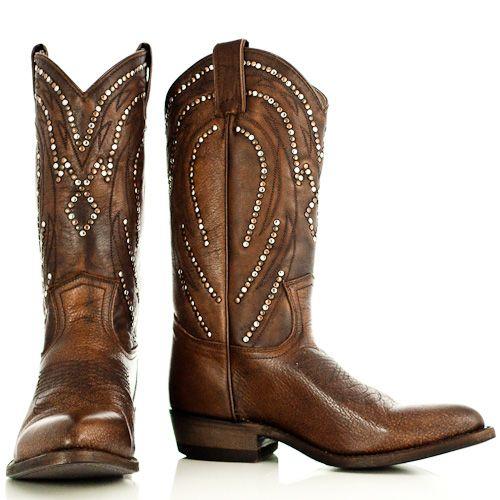 Bruine cowboylaarzen met studs - Frye Cowboy Boots   Boeties.nl