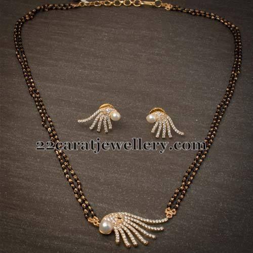 Jewellery Designs: Fancy Simple Mangalsutra