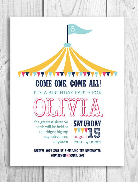 Best  Circus Invitations Ideas On   Circus Party