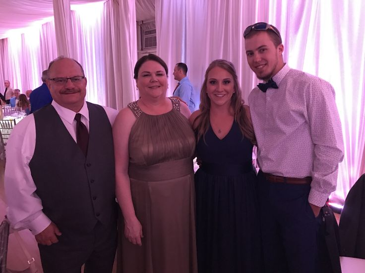 Groom's mother, father, and sister with the sister's boyfriend #Family