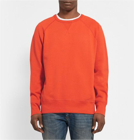 Acne Studios College Loopback Cotton-Jersey Sweatshirt