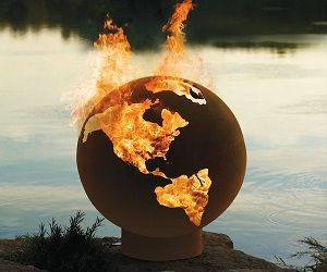 The Fire Pit Globe is 100% handmade cut from 1/4 inch steel each one is different from the other! Beautiful hand crafted it will change the atmosphere !