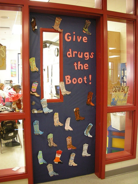 Red Ribbon Week Door Decorating Inspiration!  Enter your best Red Ribbon Week Door Decorating theme for a chance to win $150!: http://www.positivepromotions.com/rrw-contest-form/a/1012/ week