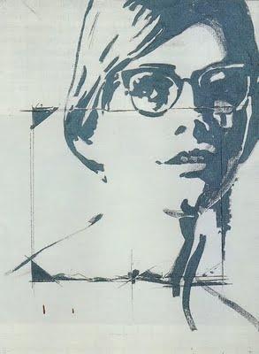 Giosetta Fioroni Keywords: Italy, Italian, Pop Art, Giosetta Fioroni, female Pop Art, artist, portrait