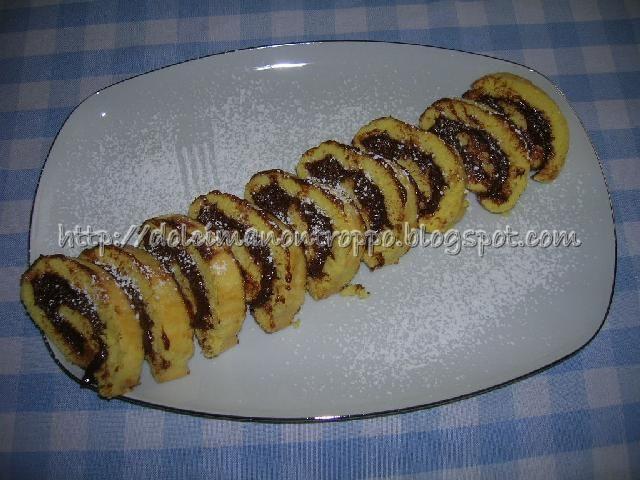 Dolcimanontroppo: ROTOLO NUTELLA E MASCARPONE SUPER GOLOSO