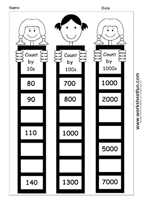 Number Names Worksheets skip counting by tens worksheets : 1000+ images about Math ideas on Pinterest | Count, Skip counting ...