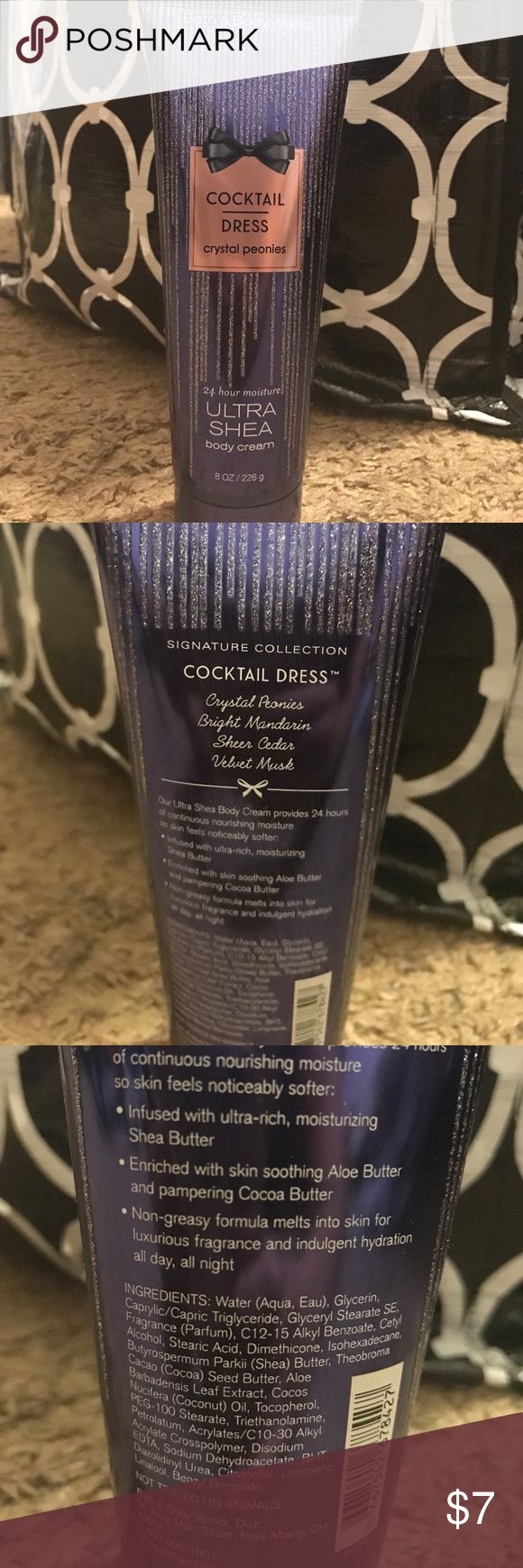 Bath and Body works Ultra Shea body cream Cocktail dress 24 hour moisture ultra shea body cream from bath and body works 8 oz Other