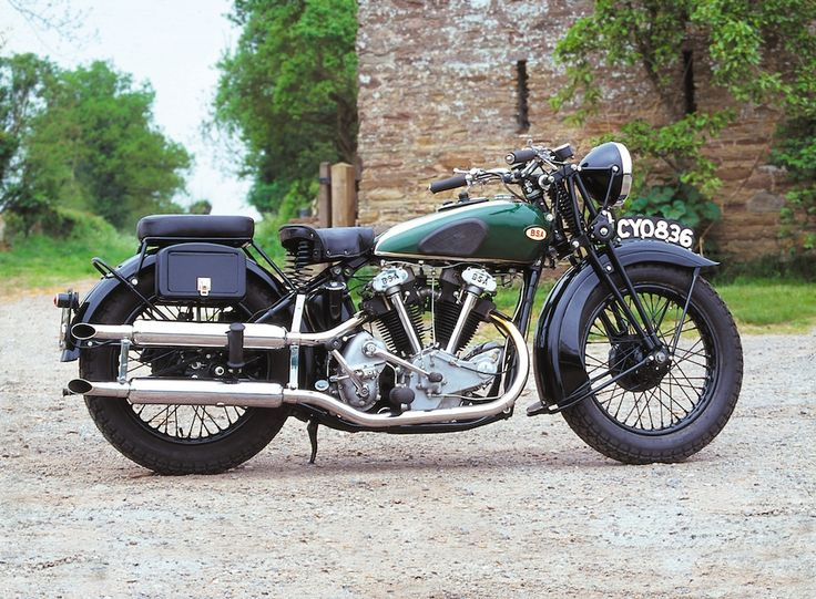 BSA made V Twin motorcycles from the 1920s through to 1940. They were mainly intended to run sidehacks/sidecars. Here you can see what a good looking machine they were.