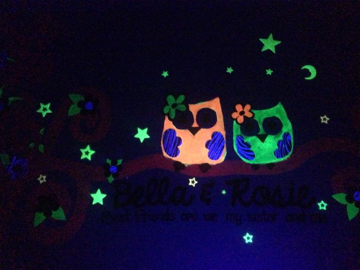 Glow in the dark wall mural for my girls bedroom
