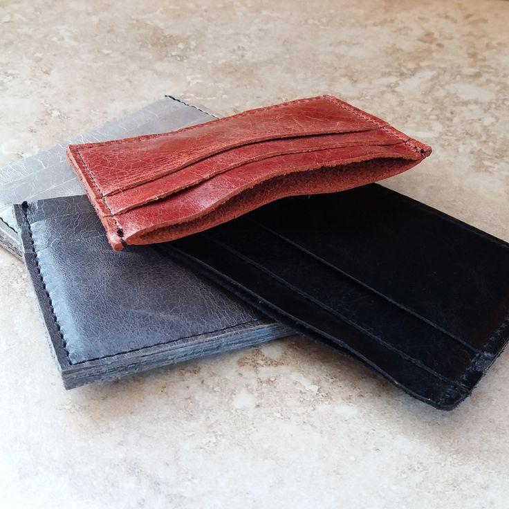 Leather Card Wallets. Perfect for all the extra cards we carry, nights out and travel.  Fits easily into your pocket.  #mensfashion #travelaccessories #travel #mensgift #weddinggift #groomsmen