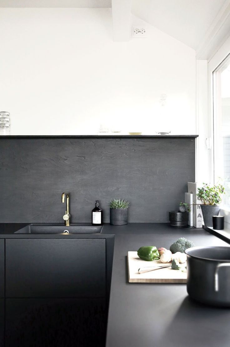 Details in a #black kitchen