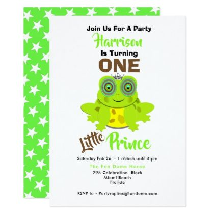 Age One 1st Birthday One Little Prince Cute Card - kids birthday gift idea anniversary jubilee presents
