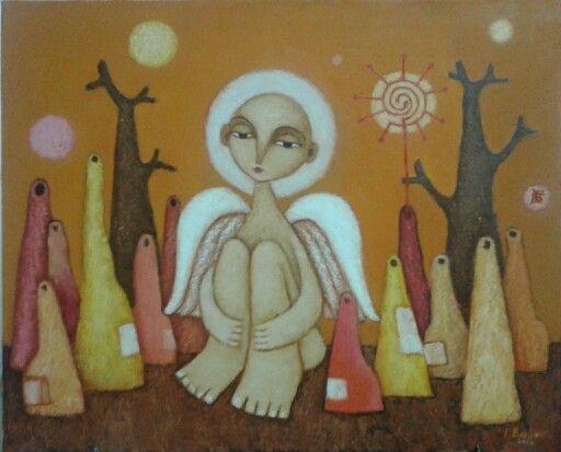 Солнечный ангел. Х.м. 50х60. 2014.