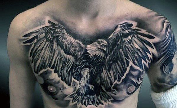 80 Eagle Chest Tattoo Designs For Men Manly Ink Ideas Eagle Chest Tattoo Eagle Tattoos Chest Tattoo