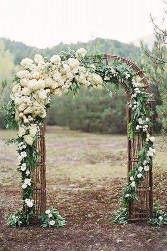 21 Ideas de Decoración de Arcos Florales para Bodas - Bodas
