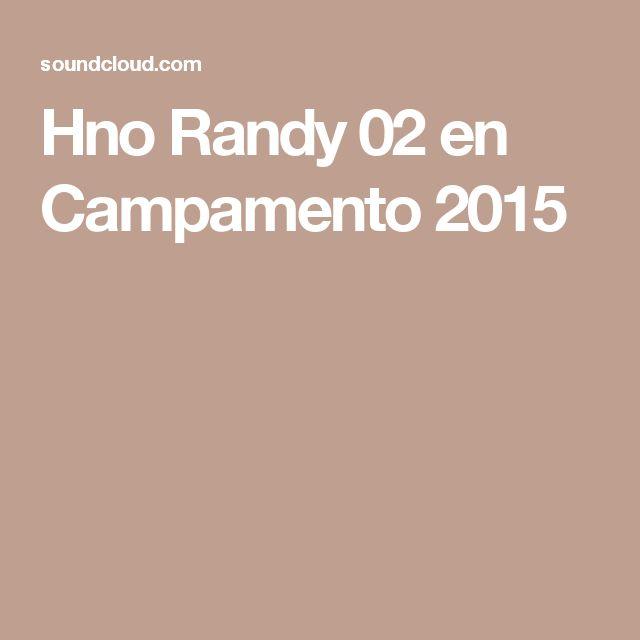 Hno Randy 02 en Campamento 2015