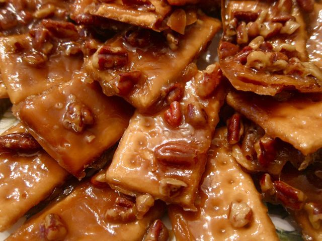 Easy Cracker Toffee. I've had this before, and it's amazing!
