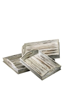 shabby trays~ made from used weathered pallets