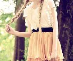 vintage outfit with pigtails