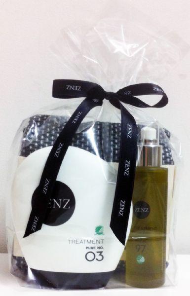 5. Hårpleje-julegave fra Zenz. Hårkur og hårolie, begge svanemærkede og uden parfume, samt håndklæde i GOTS-certificeret bomuld fra the Organic Company.