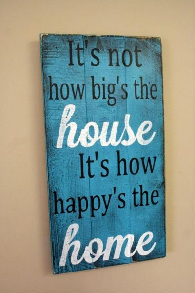 """Color Washed """"Happy Home"""" Panel"""