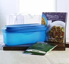 HI-HO HI-HO WITH TUPPERWARE WE GO: MICROWAVE PASTA MAKER AND RECIPE