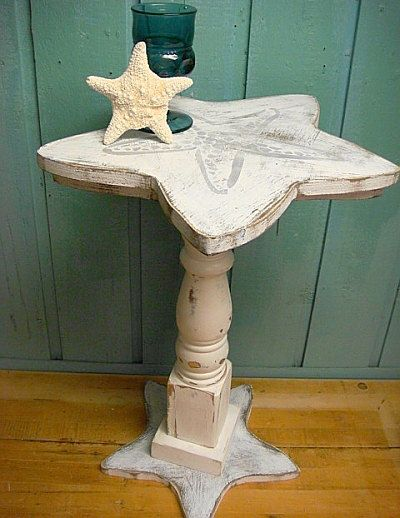Starfish Side Table Night Table Shabby Chic Beach House Style on Etsy, $139.00