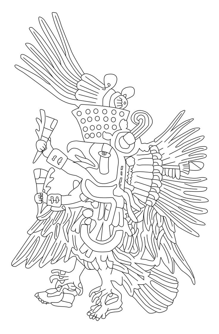 Quetzalcoatl Is A Mesoamerican Deity Whose Name Comes From The Nahuatl Language And Means Feathered Coloring Pages For AdultsNative