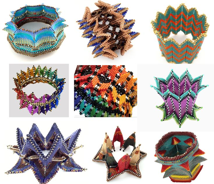 CONTEMPORARY GEOMETRIC BEADWORK from Kate McKinnon featured in Bead-Patterns.com Newsletter!
