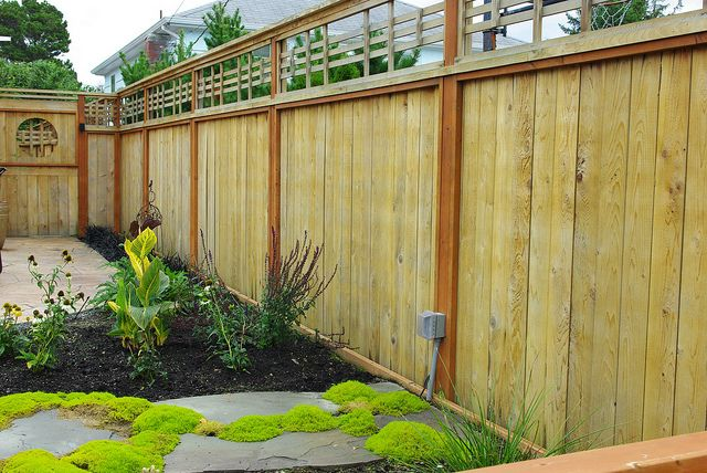 38 best board fences images on pinterest for Cheap tall privacy fence