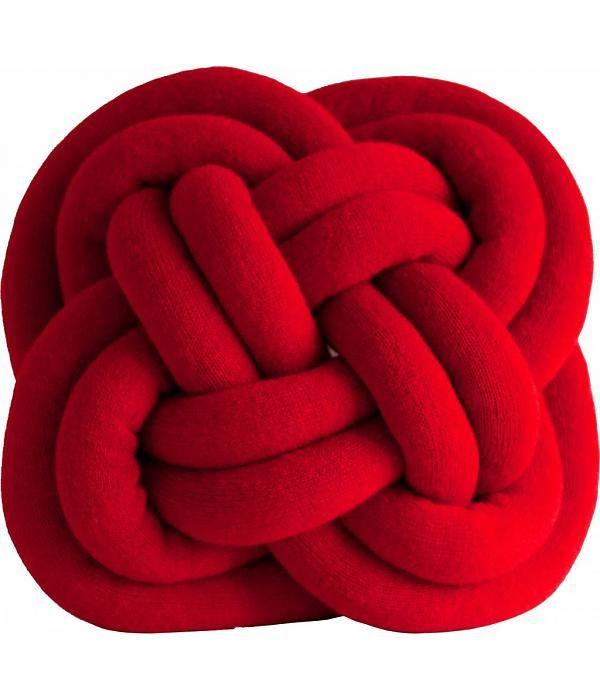 Umemi Notknot knoop kussen rood