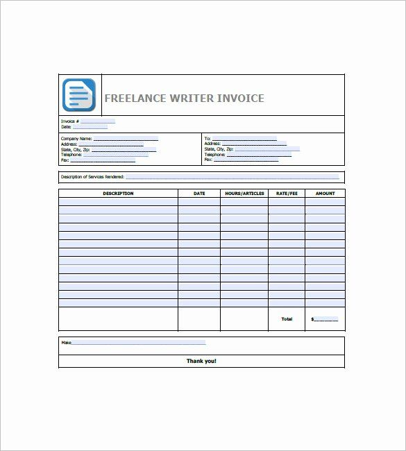 Freelance Writer Invoice Template Beautiful Freelancer Invoice Template 15 Free Word Excel Pd Invoice Template Freelance Invoice Template Invoice Template Word