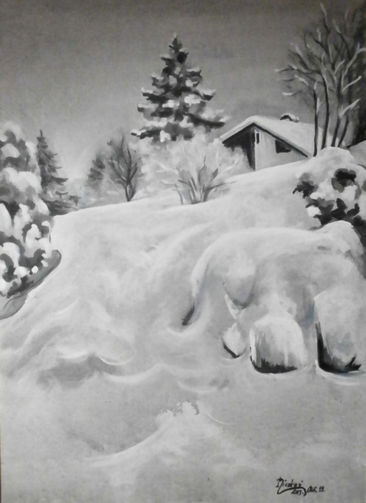 Télitáj-akril-vászon-69x50 cm