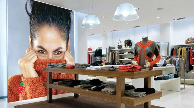 Retail Branded Environments - LitexFrames activate your brand. You can dim the lights to set the exact atmospheric mood you wish to convey