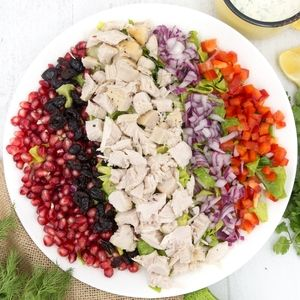 Turkey Salad with Dairy Free Ranch Dressing