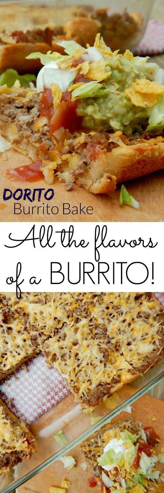 Dorito Burrito Bake...tastes just like a burrito, but so much easier to make!