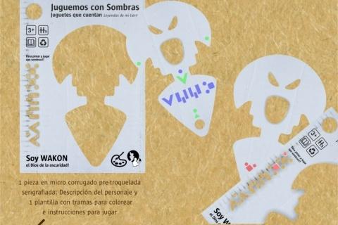 Kit para pintar, Wakon.  Nuevo producto de la linea Juguetes que cuentan, para pintar y jugar con sombras!