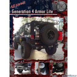 LoD JK 2007-14, Fullwidth Gen 4 Armor lite  Rear Bumper with the Gen 4, Tire Carrier, 55 Watt halogen Reverse light Provisions - STC1001