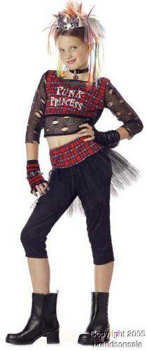 childs punk rock girl halloween costume size clothing impulse - Halloween Punk Costume