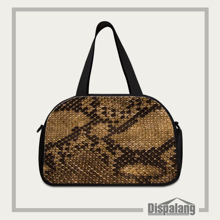Snakeskin Pattern Women Travel Duffle Bags Cool Men Large Luggage Bag Brand Female Travel Bag With Independent Shoe Socket