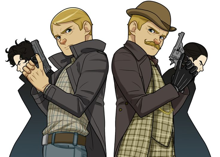 The two representations of Watson and Holmes- Sherlock