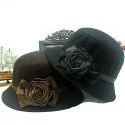 Rose fiori cappello di lana