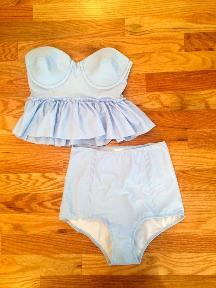 Peplum swimsuit top by KortniJeane on Etsy, $65.00