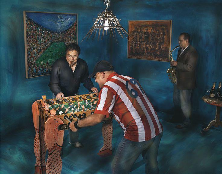 Instalación Jugando Bop Gol, 2010, creada en colaboración con la fotógrafa Floria González