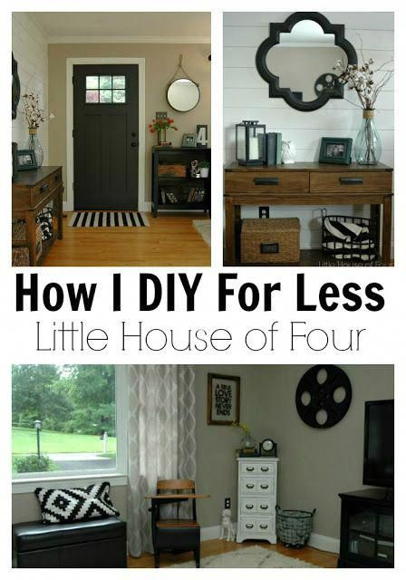 DIY For Less A Thrifty Entryway and Living Room - LittleHouseofFour
