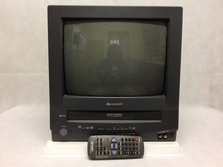 SHARP 13 CRT TELEVISION  TV VCR COMBO (13VT-R100) w/ REMOTE