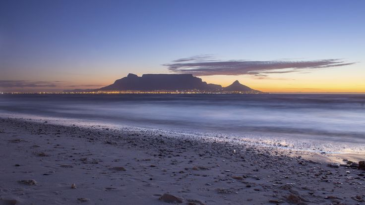 """Table Mountain, Cape Town, South Africa. Table Mountain was declared 1 of the """"New 7 Natural Wonders of the World"""" in 2011.   #travel #destinations #lovecapetown #southafrica #sunset"""