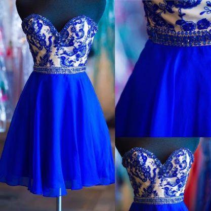dress, homecoming dress, blue dress, chiffon dress, short dress, strapless dress, retro dress, blue chiffon dress, short homecoming dress, dress blue, custom dress, blue homecoming dress, short chiffon dress, short blue dress