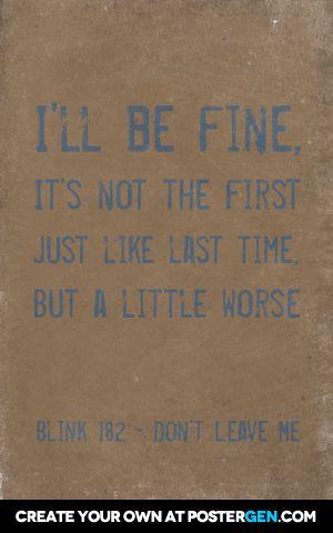 First date blink 182 lyrics in Sydney