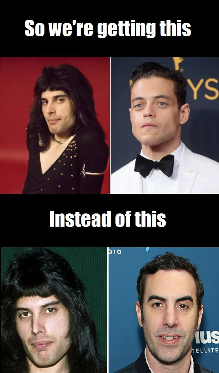 I M No Expert But Rami Malek Looks Better Suited For A Bruno Mars Biopic What Is Up With Hollywood Casting Actors Who Look Nothing Like Their Roles First Han Queen Movie